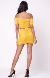 Mustard two piece back