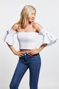 White bell crop top